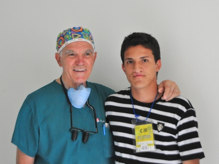 Dr. Capozzi & Hector prior to surgery