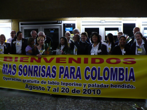 Colombia Rotarians Welcome Us
