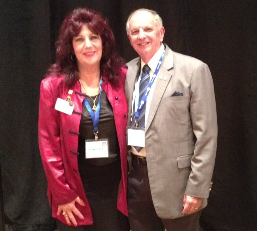 PDG Donna-Lee with Past RI Director Ken Grabeau from New England