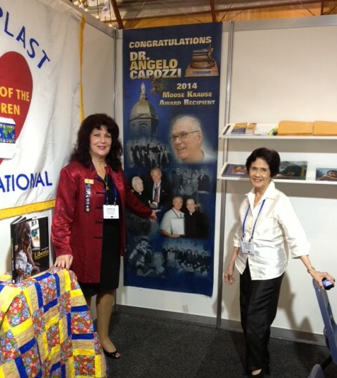 Rotary International Convention. Rotaplast Booth House of Friendship, Executive Director PDG Donna-Lee and Medical Team Coordinator Evelyn Abad
