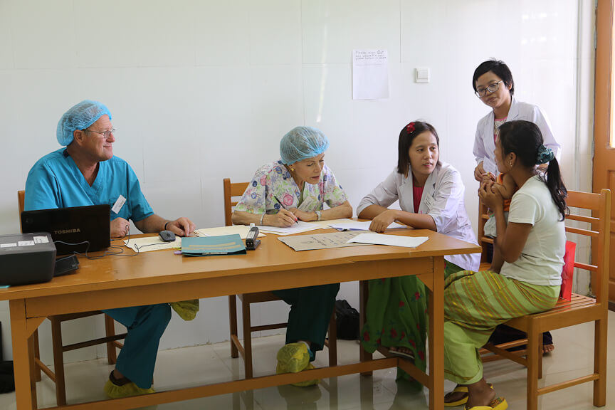 Surgeries day TWO with Rotaplast Volunteers at the Retired Service Personnel Hospital in Nay Pyi Taw, Myanmar.