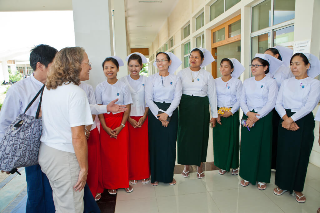Medical and non-medical volunteers serve in Nay Pyi Taw, Myanmar. Pre screening of patient possibilities