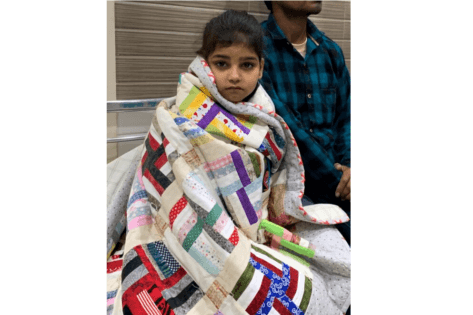 Patient wrapped in Quilt